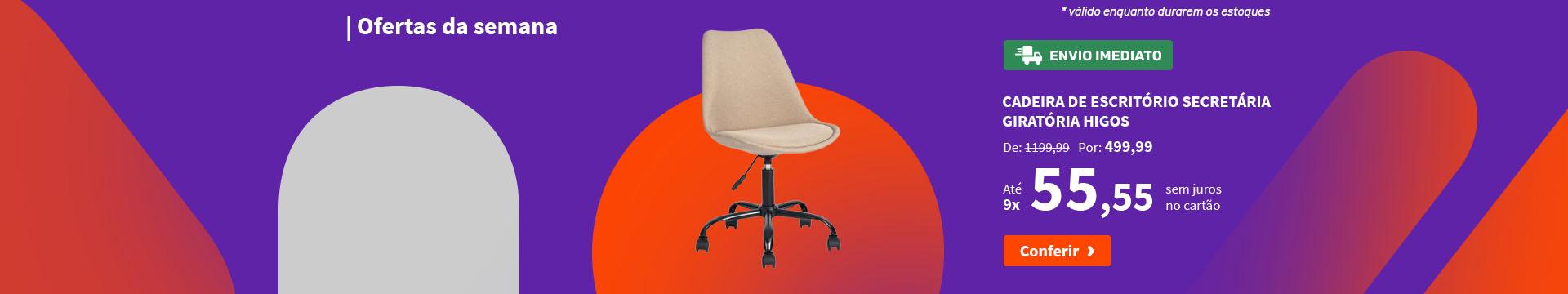 Cadeira de Escritório Secretária Giratória Higos - Ofertas da semana