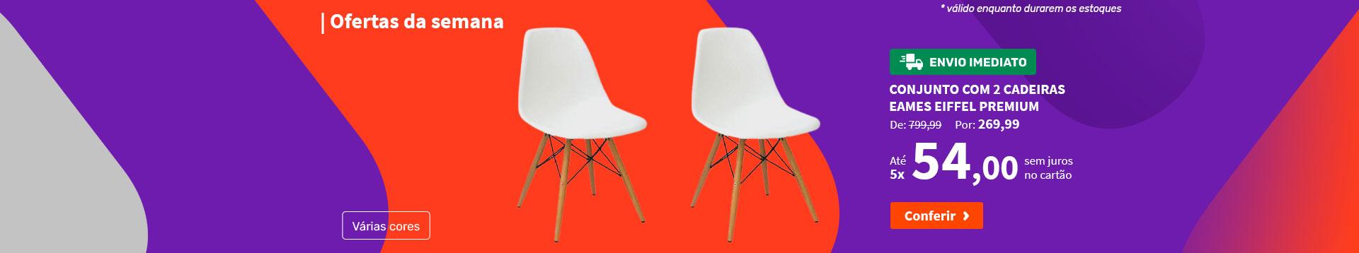 Conjunto com 2 Cadeiras Eames Eiffel Premium - Ofertas da semana