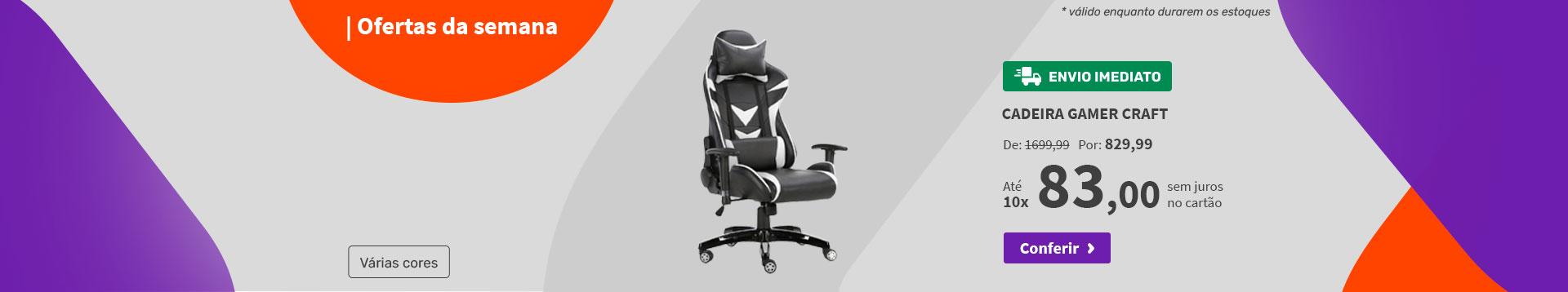 Cadeira Gamer Craft - Ofertas da semana