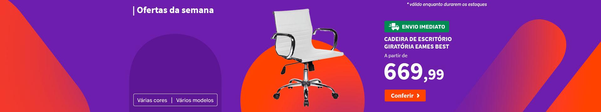 Cadeira de Escritório Giratória Eames Best - Ofertas da semana
