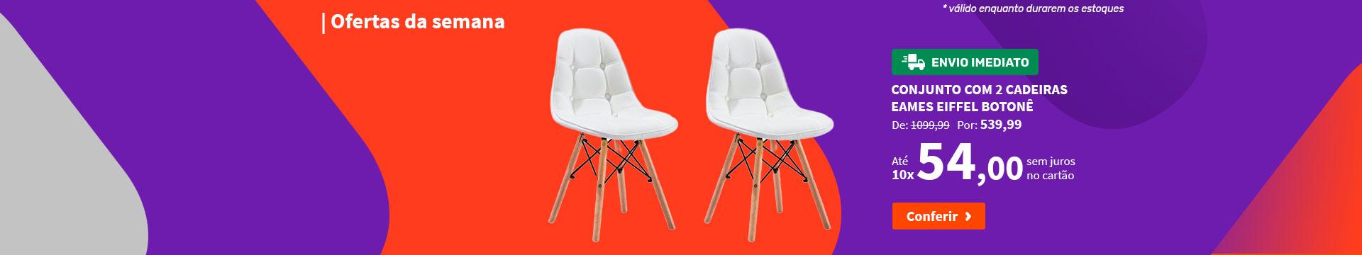 Conjunto com 2 Cadeiras Eames Eiffel Botonê - Ofertas da semana