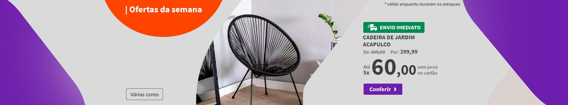 Cadeira de Jardim Acapulco - Ofertas da semana