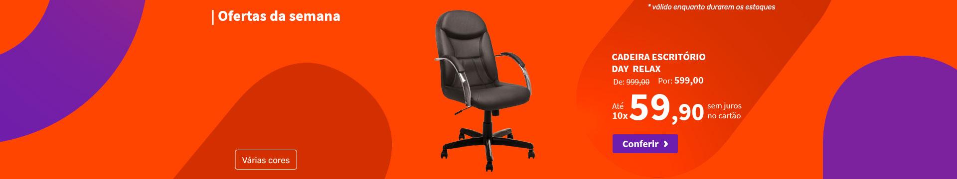 Cadeira Escritório Day  Relax - Ofertas da semana