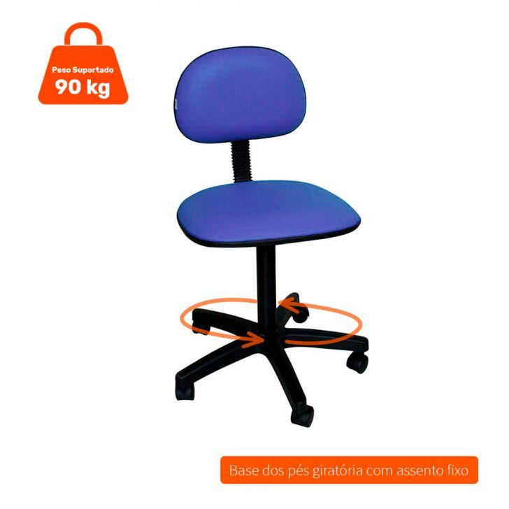 Cadeira de Escritório Secretária Giratória Direction I Azul
