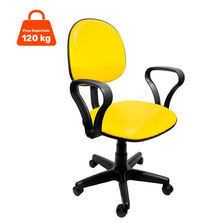 Cadeira de Escritório Secretária Mazikeen Ajustável Amarela