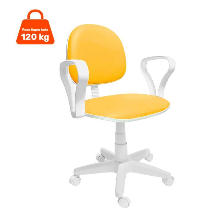 Cadeira de Escritório Secretária Mazikeen Ajustável Laranja