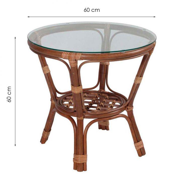 Mesa de centro rattan cirebon mel - Mesas de rattan ...