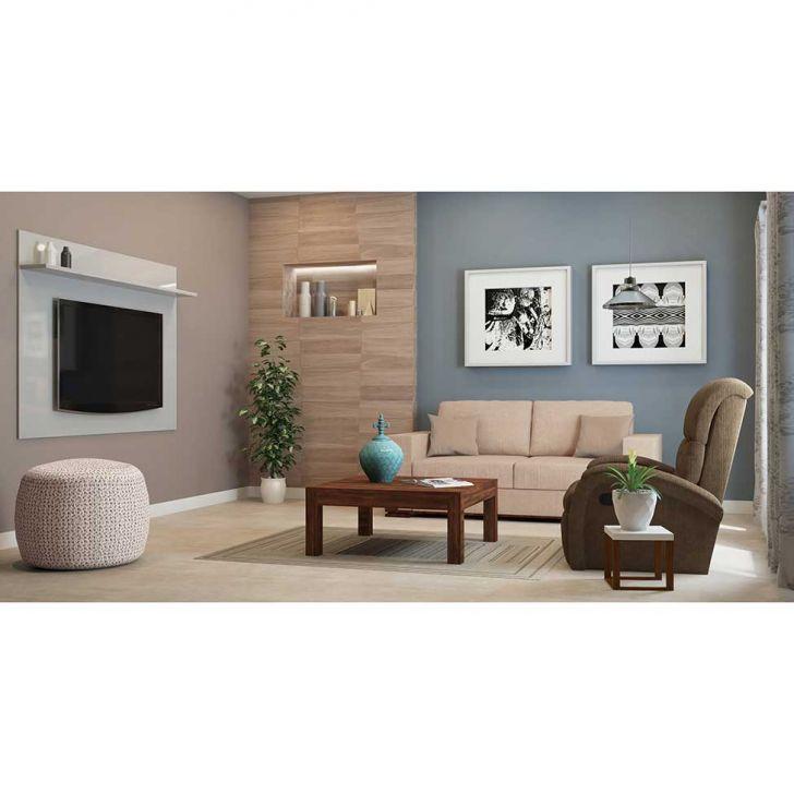 Conjunto Sofá 2 E 3 Lugares Com 2 Almofadas Decorativas: Conjunto Sofá 2 E 3 Lugares Linho Creme