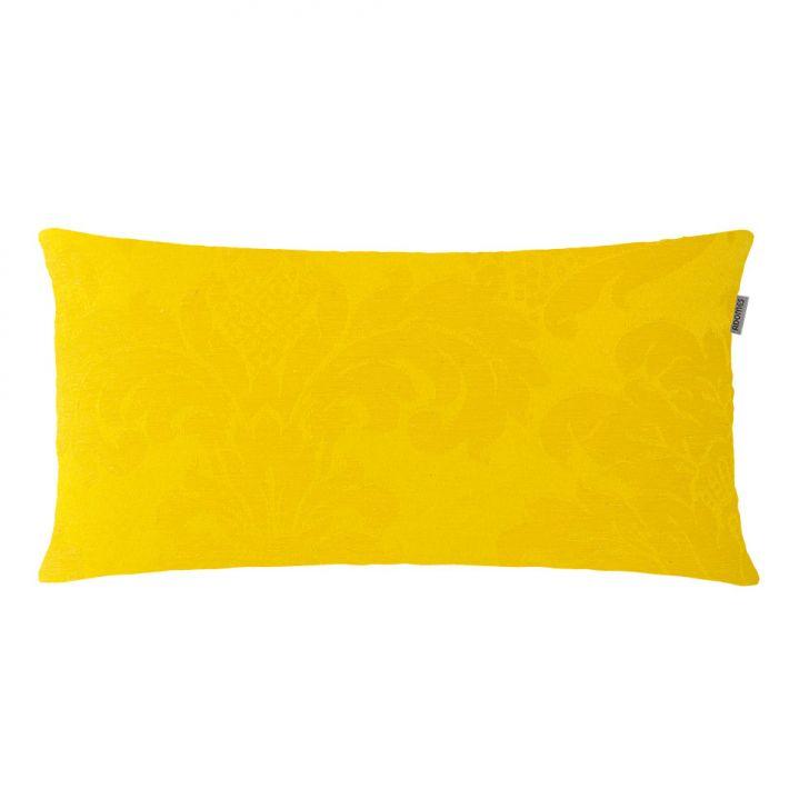 Capa para Almofada Jacquard Medalhão 28x50cm Amarelo