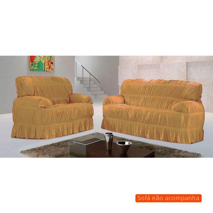 Capa para sofá Malha Bege 70x200 cm - 3 e 2 lugares