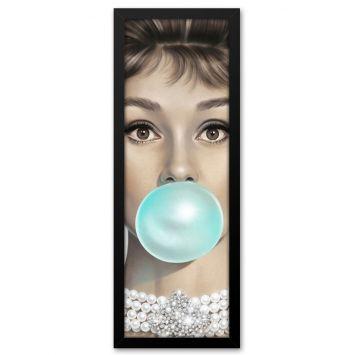 Quadro Decorativo Audrey Hepburn DESCONTO DE R$: 60,00 (40,03% OFF) - OFERTA MOBLY