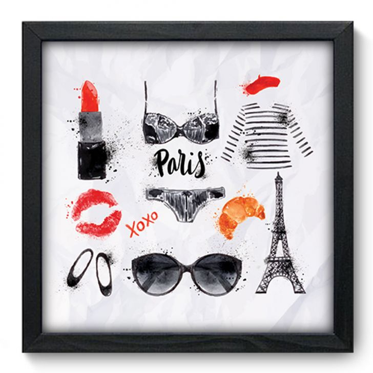 Quadro Decorativo - Paris - 162qdm - Preto - 1 - thumbnail
