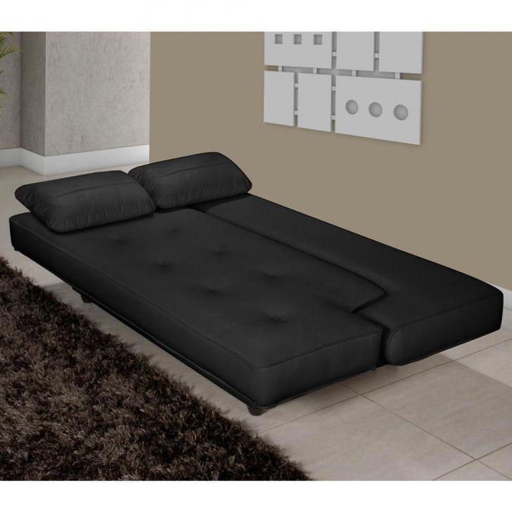 Sof cama casal elite corino preto for Sofa cama 1 persona