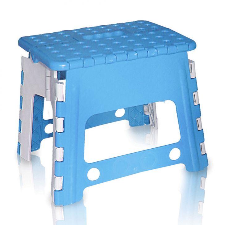 Banco de Plástico Dobrável Infantil Azul