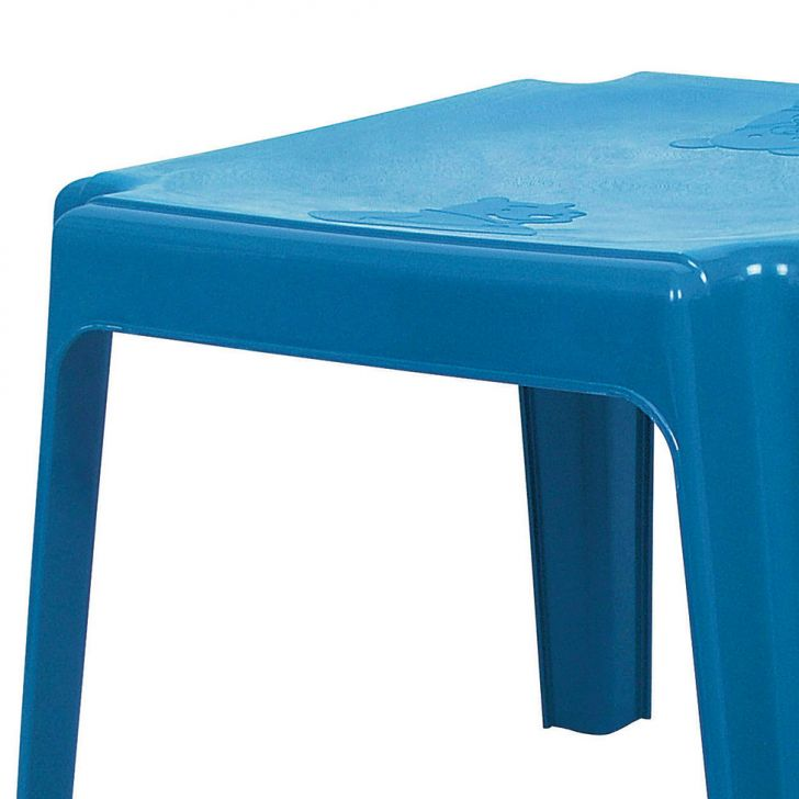 Mesa de pl stico infantil azul - Mesas para ninos de plastico ...