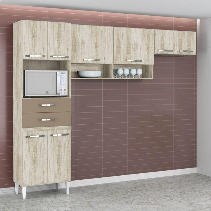 Cozinha Compacta Isabella 8 PT Essence e Brown