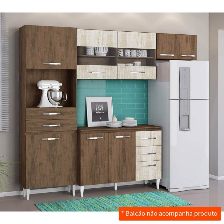 Cozinha Compacta Larissa 6 PT 4 GV Dakota e Essence