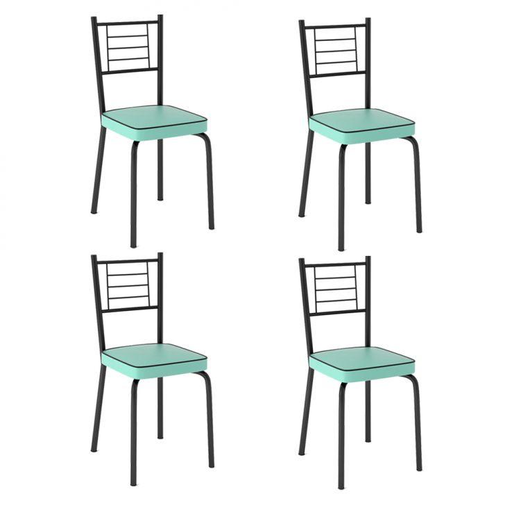 Conjunto de 4 Cadeiras Juliana Verde