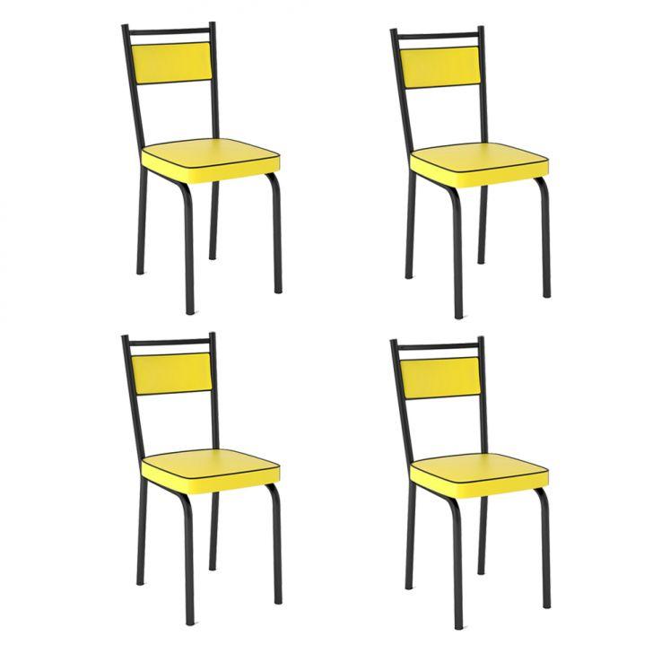 Conjunto de 4 Cadeiras Lion Amarela