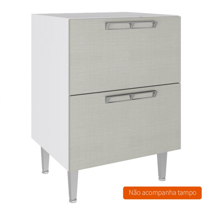 Balcão Basculante Mia Coccina 60X83 Branco Com Nude