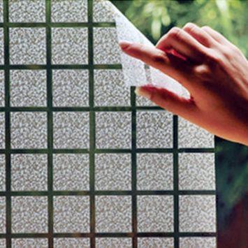 Adesivo jateado rolo para box janela porta vidro quadrado for Adesivos p porta de vidro