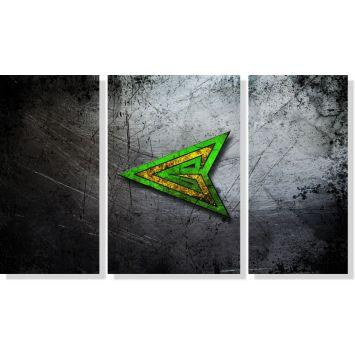 Quadros Decorativos Arrow para Quartos 3 peças m2 DESCONTO DE R$: 26,99 (16,16% OFF) - OFERTA MOBLY