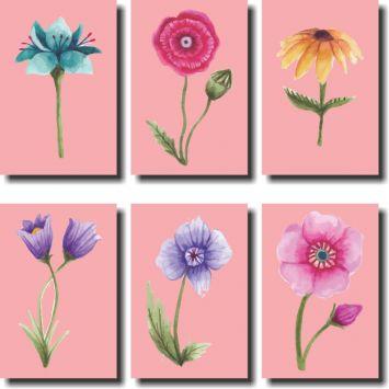 Quadros Decorativos Kit 6 Peças Flores Coloridas Modelo 3 DESCONTO DE R$: 11,30 (10,00% OFF) - OFERTA MOBLY