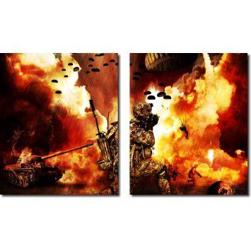 Quadros Decorativos Tercera Guerra Mundial 2017 2 Pç DESCONTO DE R$: 19,01 (12,19% OFF) - OFERTA MOBLY