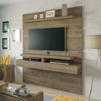 Painel para TV 42 Polegadas Oxford Pinho 160 cm DESCONTO DE R$: 652,00 (50,15% OFF) - OFERTA MOBLY