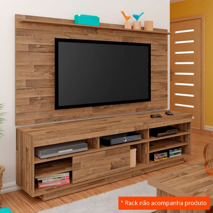 painel para tv 47 polegadas slim r stico 180 cm. Black Bedroom Furniture Sets. Home Design Ideas