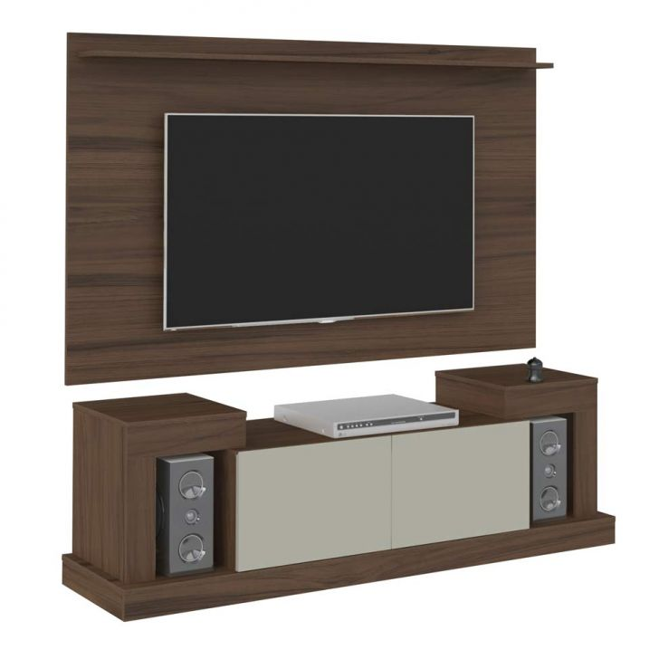 rack com painel para tv 47 polegadas time 160 cm am ndoa e. Black Bedroom Furniture Sets. Home Design Ideas