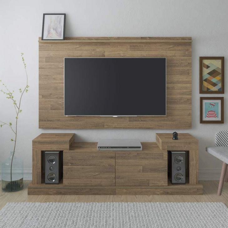 Rack com Painel para TV 47 Polegadas Time 160 cm Rústico