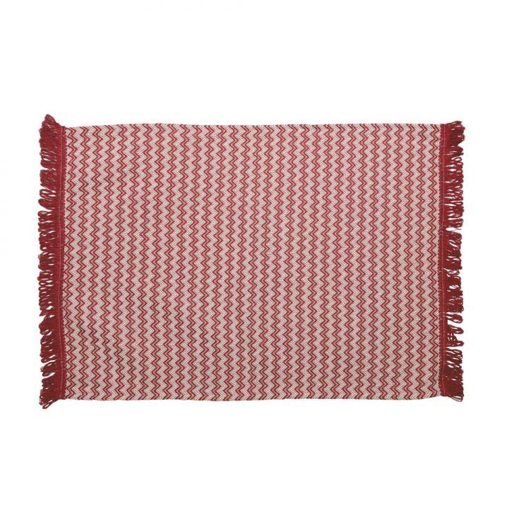Tapete de Cozinha Campestre Algodão 70x50 Vermelho
