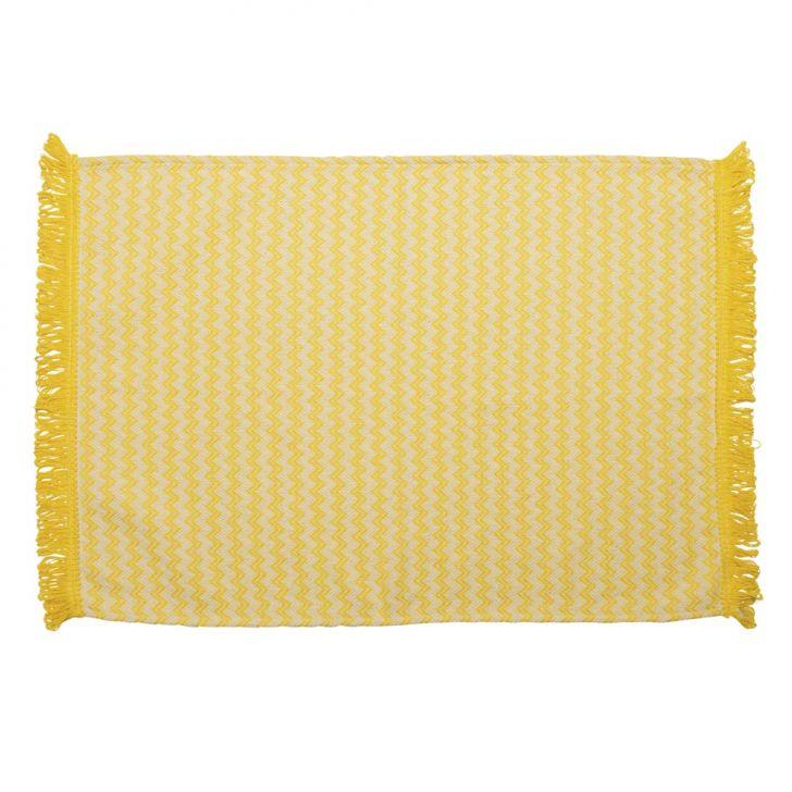 Tapete de Cozinha Campestre Missoni Algodão 70x50 Amarelo