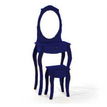 Penteadeira Colonial ATZ112 Azul Royal DESCONTO DE R$: 300,00 (31,02% OFF) - OFERTA MOBLY
