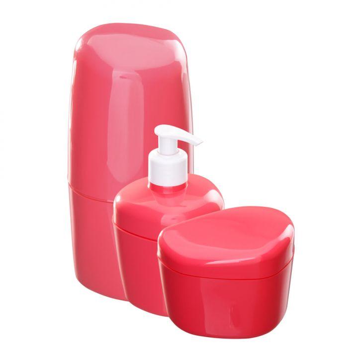 Kit Para Banheiro Com 3 Peças Goiaba Astra