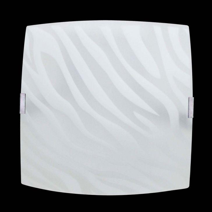 Plafon Sobrepor Quadrado Médio Zebra Branco Attena