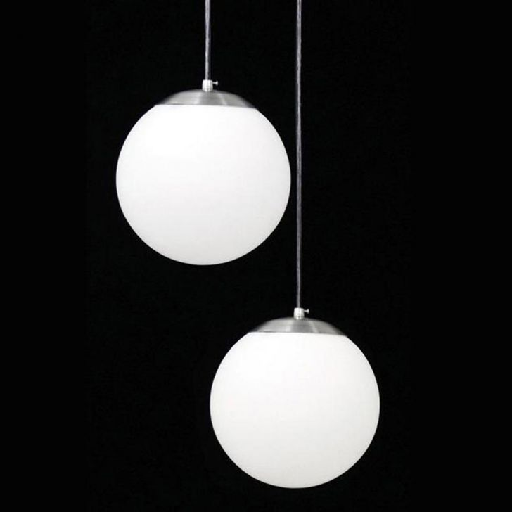 Pendente Duplo Esférico Leitoso 9008/2 Branco