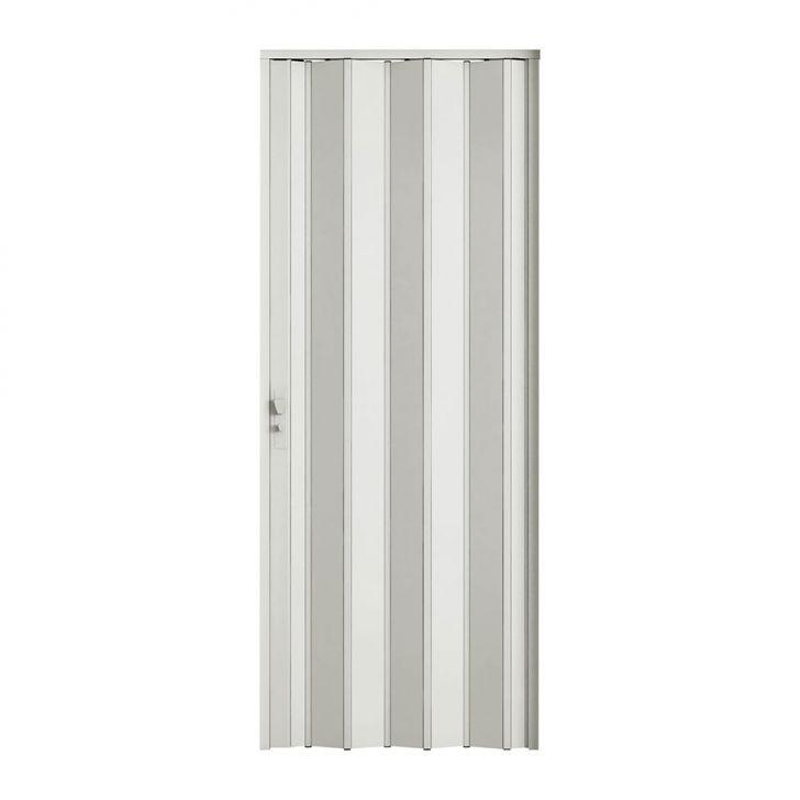 Porta Sanfonada Com Fechadura Branca 096X210