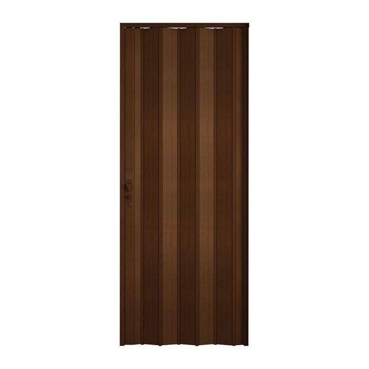 Porta Sanfonada Com Fechadura Imbuia 084X210