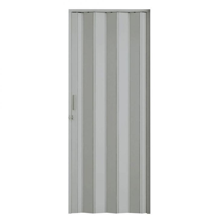 Porta Sanfonada Com Trinco Cinza 060X210