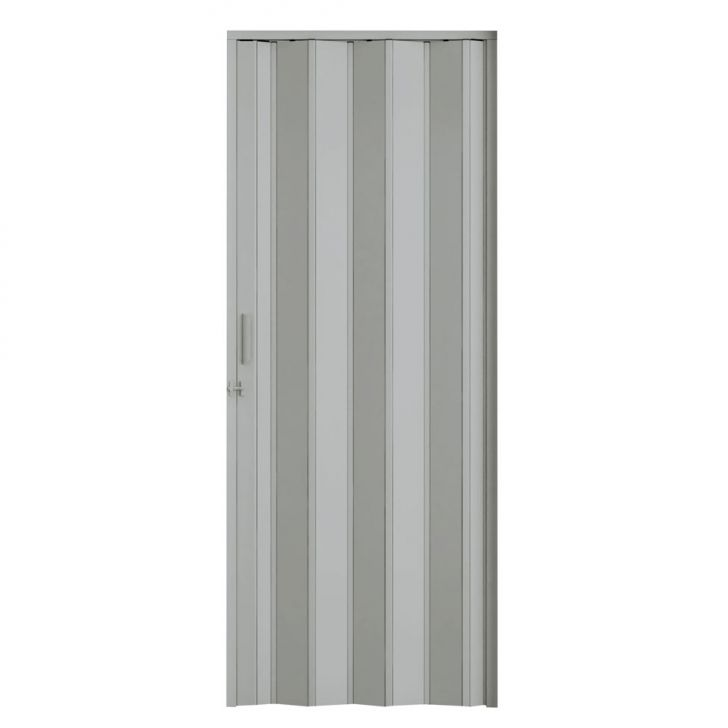 Porta Sanfonada Com Trinco Cinza 084X210