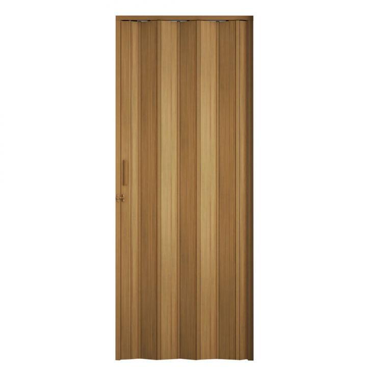 Porta Sanfonada Com Trinco Marrom Claro 60X210
