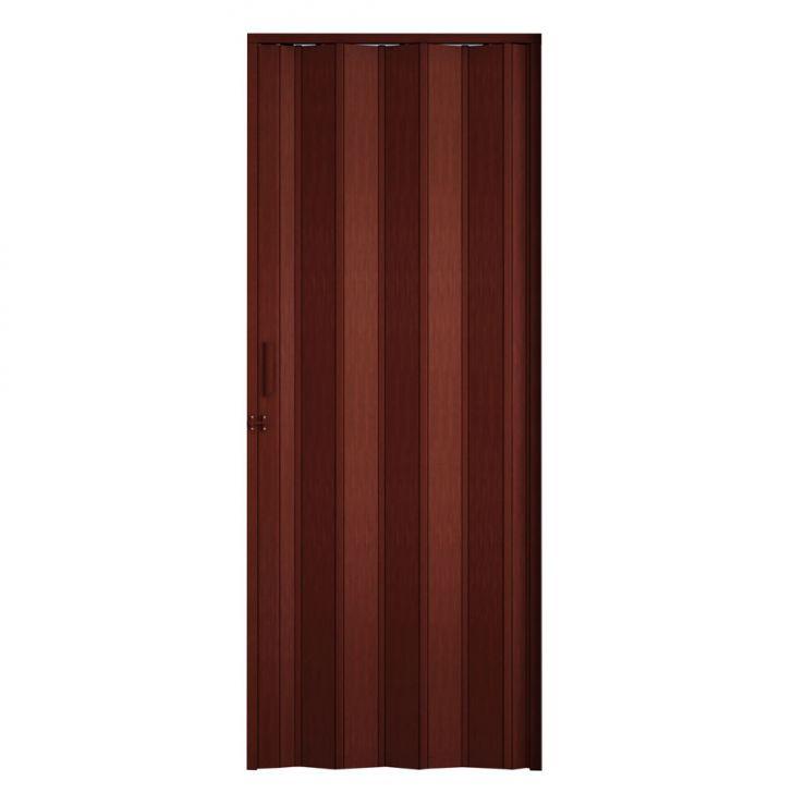 Porta Sanfonada Com Trinco Mogno 084X210