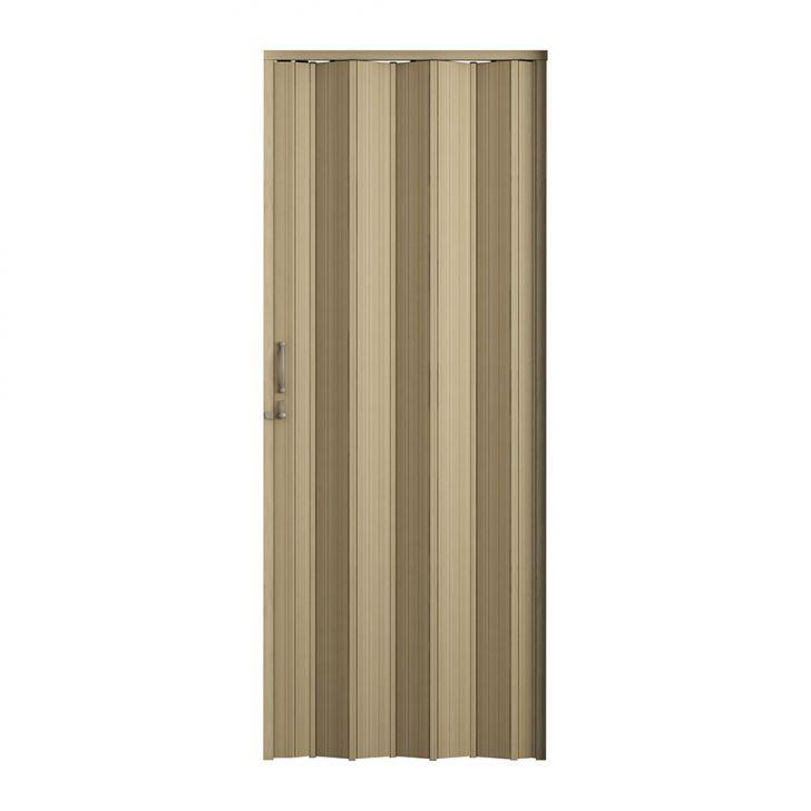 Porta Sanfonada Plus Com Trinco Carvalho Prata 096X210