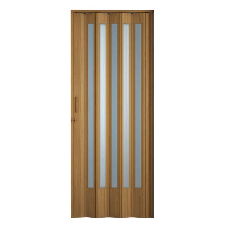 Porta Sanfonada Translucida Com Trinco Cerejeira 096X210