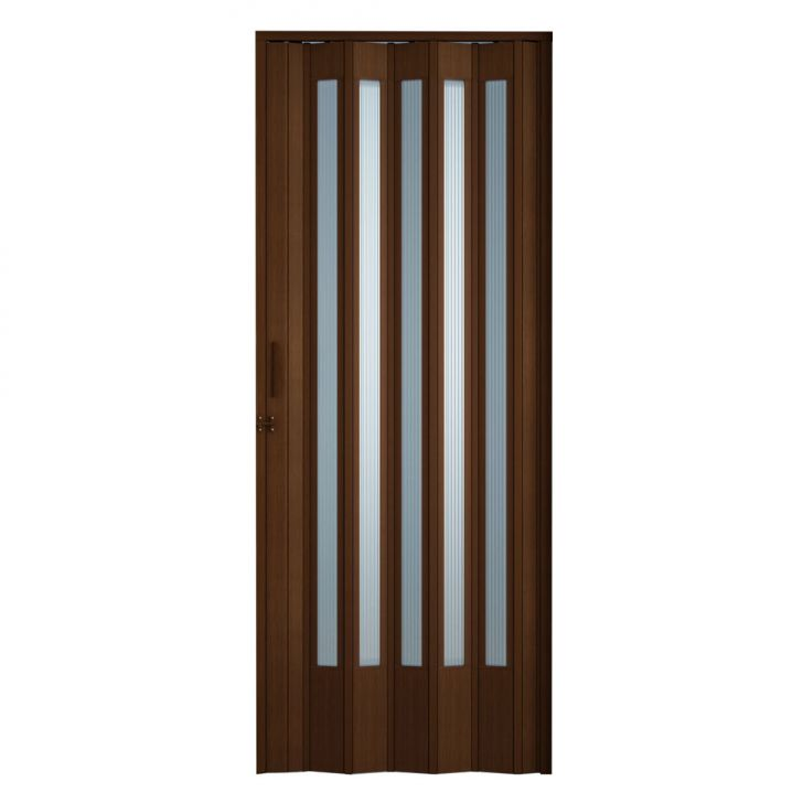 Porta Sanfonada Translucida Com Trinco Imbuia 084X210
