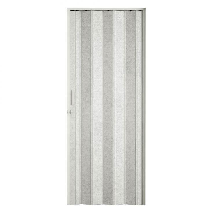 Porta Sanfonada Translucida Com Trinco Puntinato 096X210