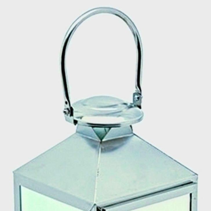 Lanterna decorativa em metal cromado p for Metal cromado
