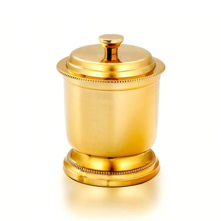 Porta Algodão Liso Dourado Banho Mais